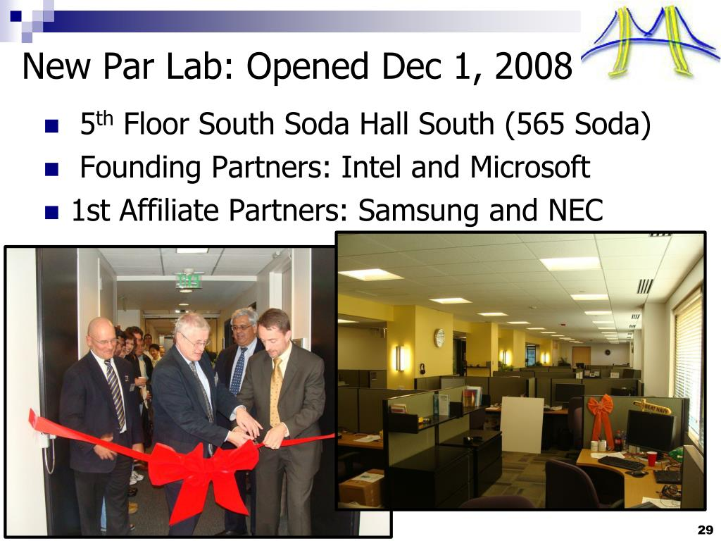 New Par Lab: Opened Dec 1, 2008