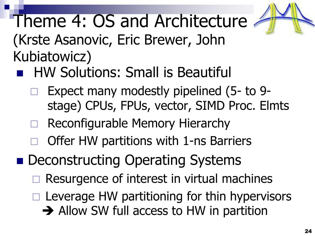 Theme 4: OS and Architecture