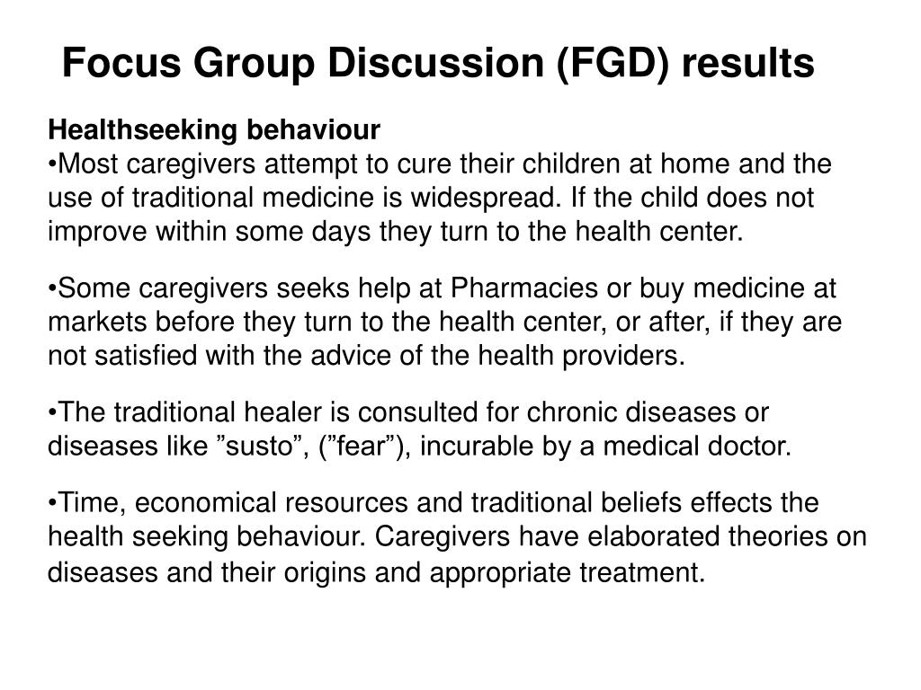 Focus Group Discussion (FGD) results