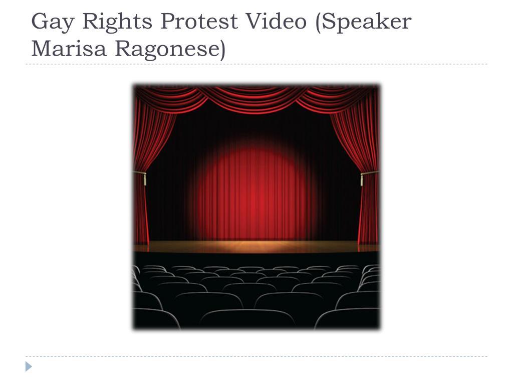Gay Rights Protest Video (Speaker Marisa Ragonese)