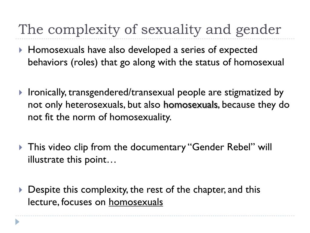 The complexity of sexuality and gender