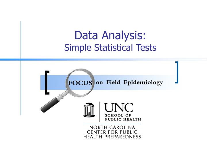 Data analysis simple statistical tests