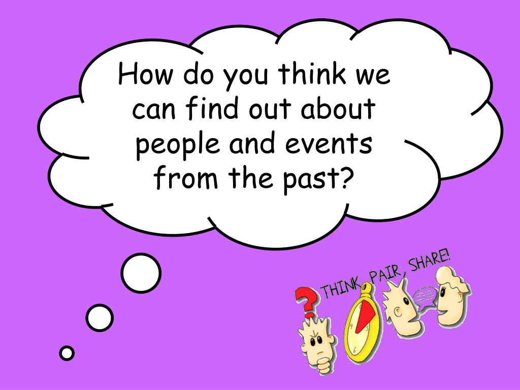 How do you think we can find out about people and events from the past?