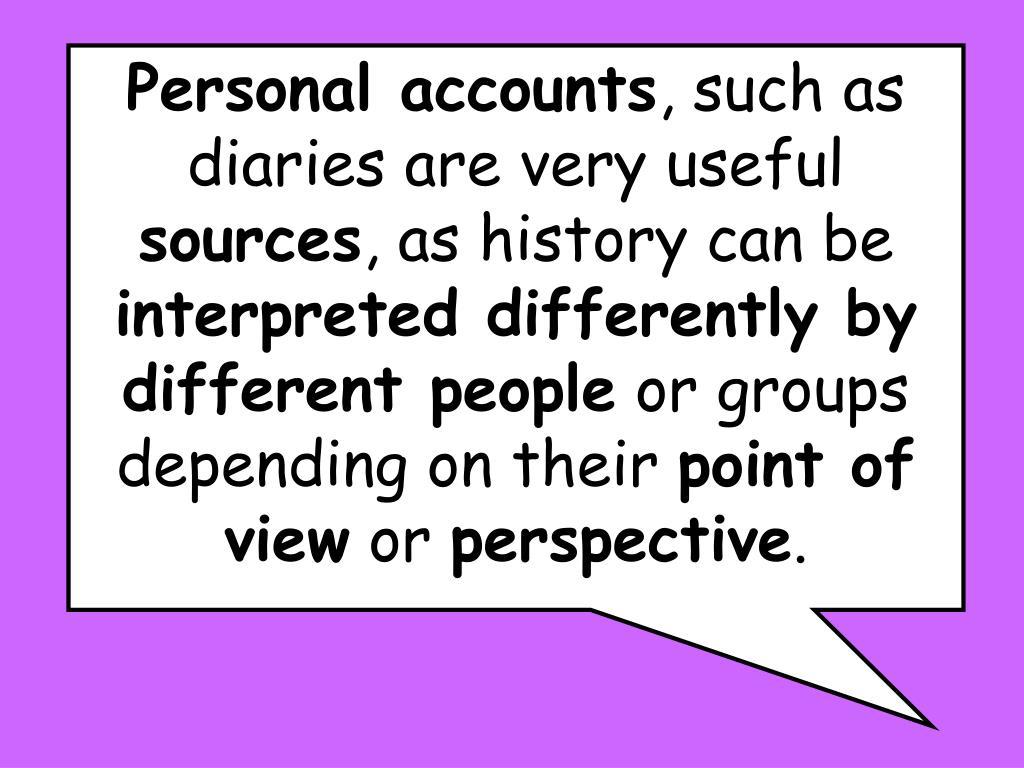 Personal accounts