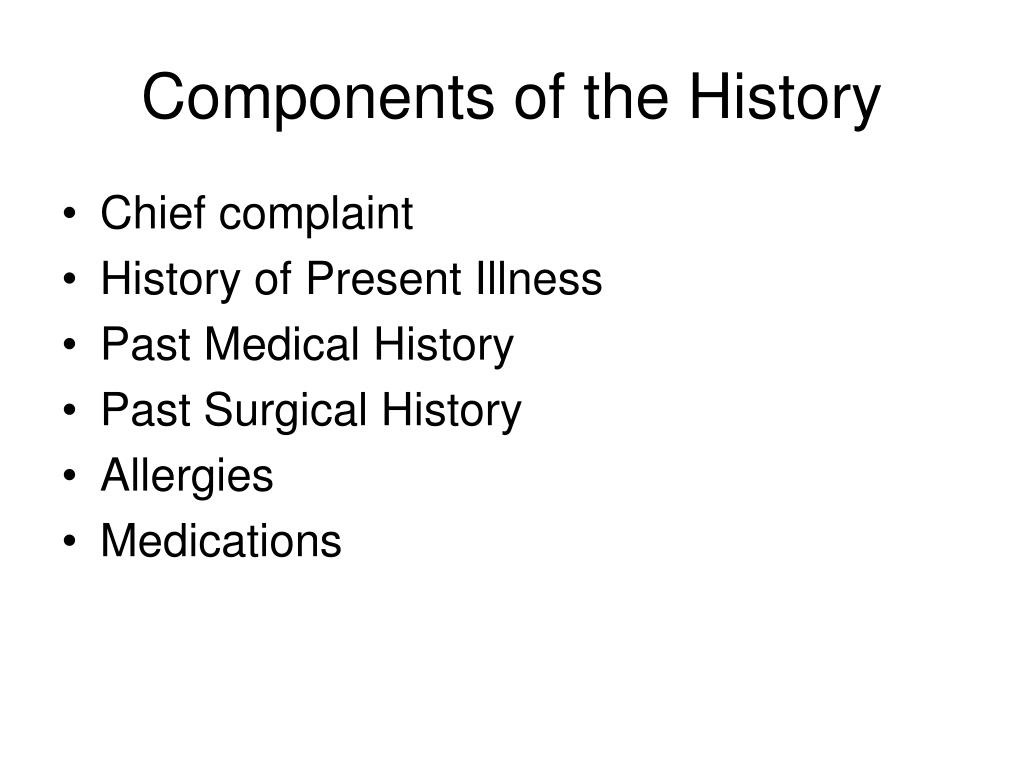 Components of the History