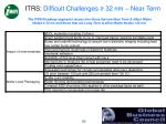 itrs difficult challenges 32 nm near term