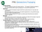 itrs optoelectronic packaging