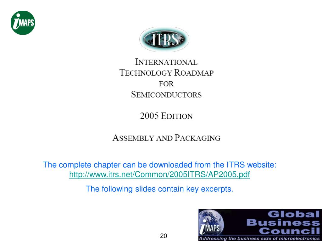 The complete chapter can be downloaded from the ITRS website: