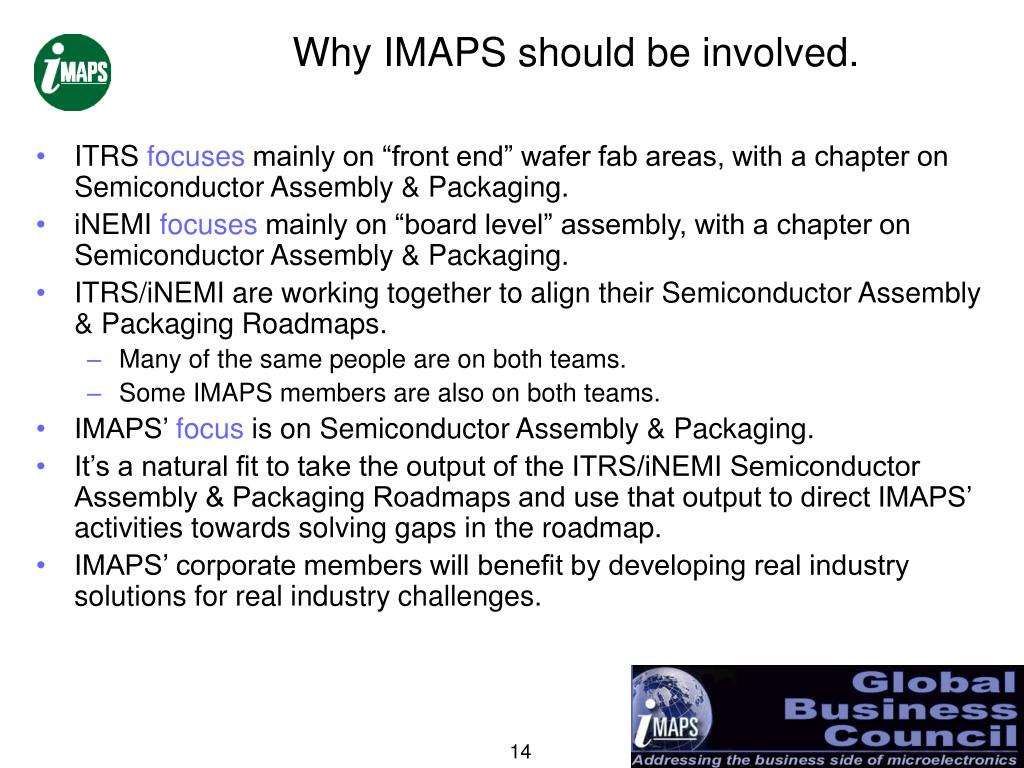 Why IMAPS should be involved.