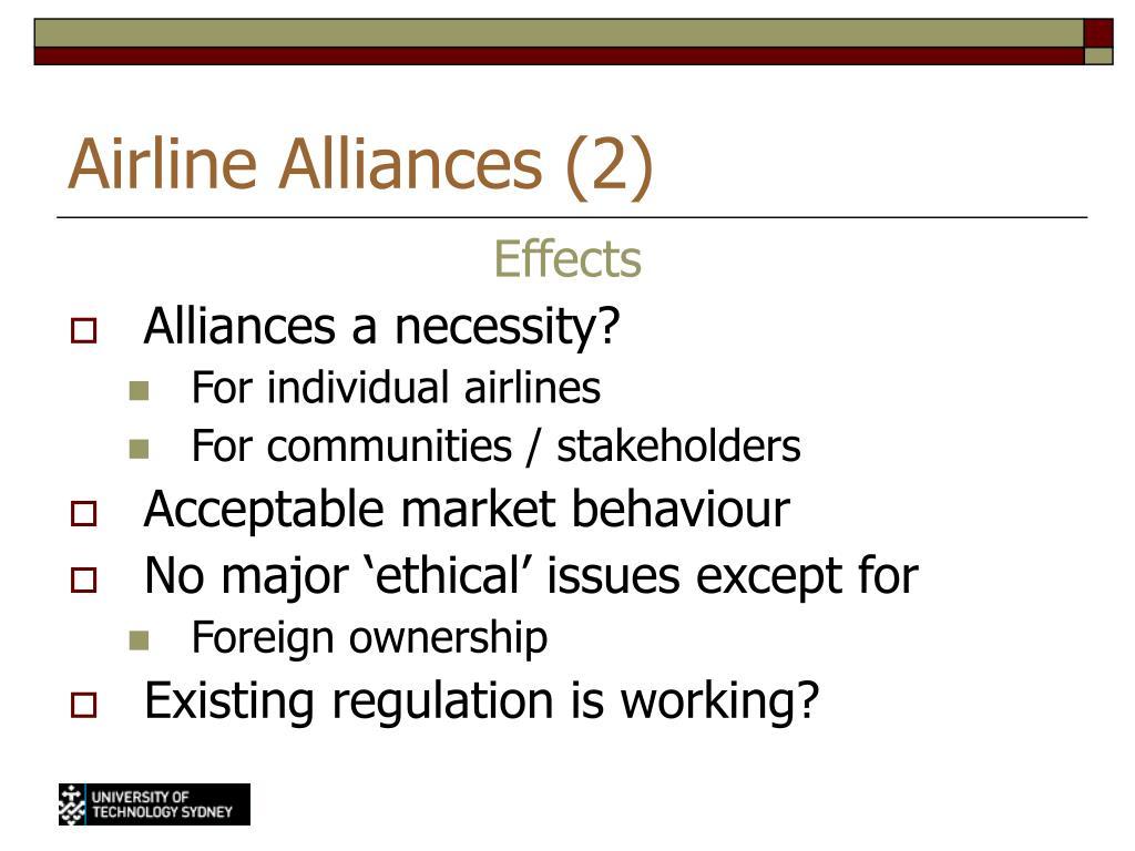 Airline Alliances (2)