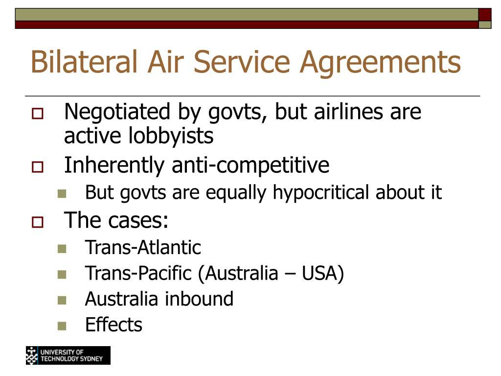 Bilateral Air Service Agreements