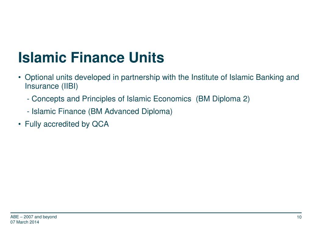 Islamic Finance Units