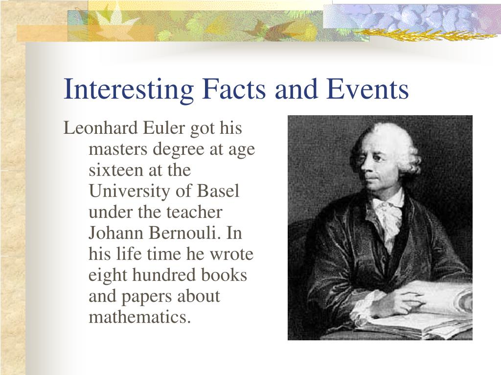 Interesting Facts and Events