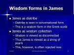wisdom forms in james
