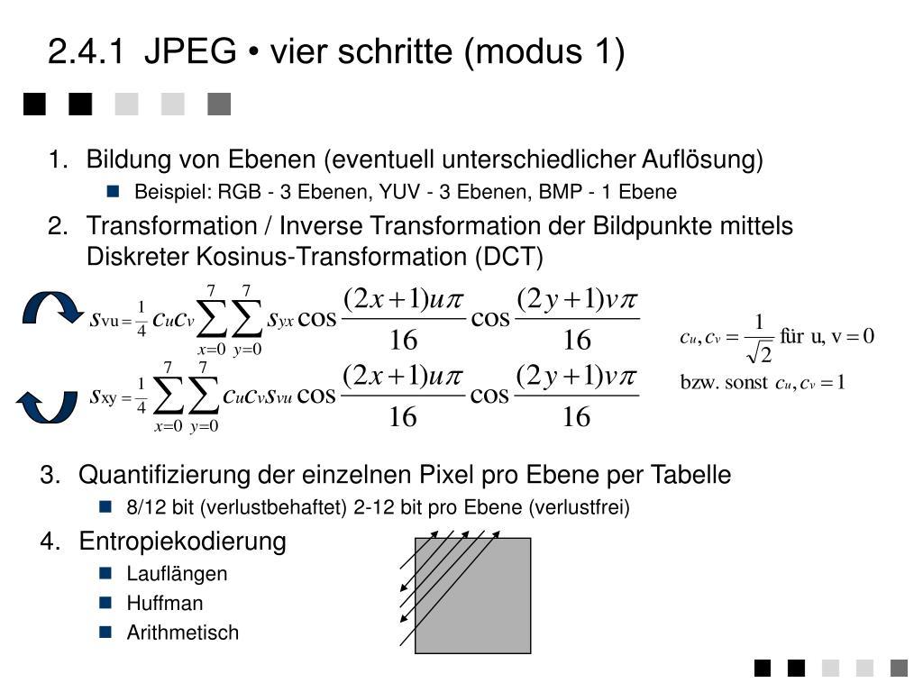 1.Bildung von Ebenen (eventuell unterschiedlicher Auflösung)
