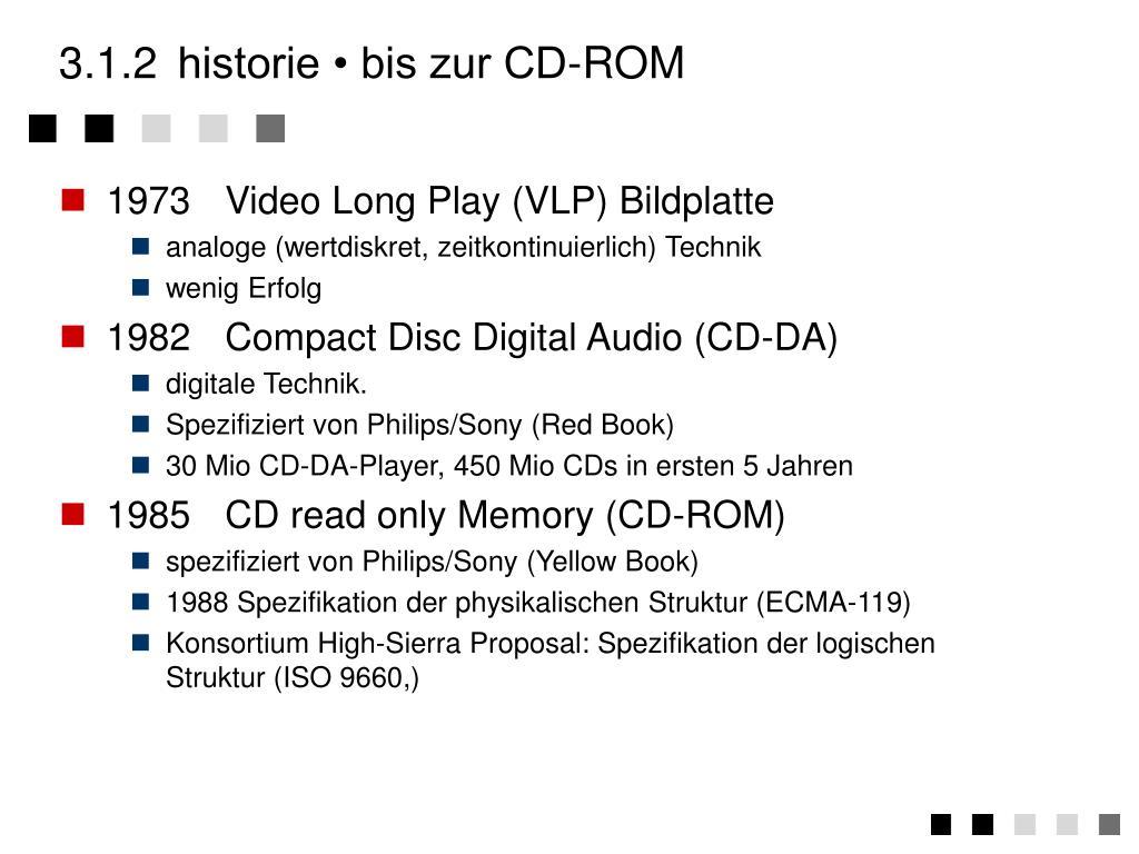 3.1.2historie • bis zur CD-ROM