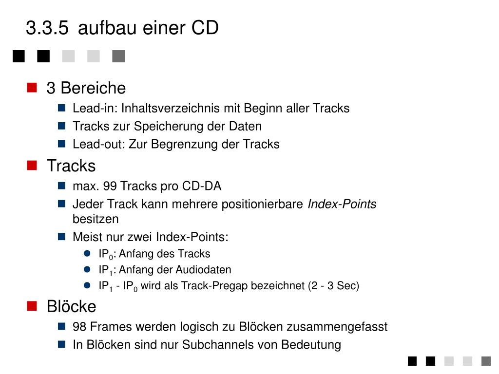 3.3.5aufbau einer CD