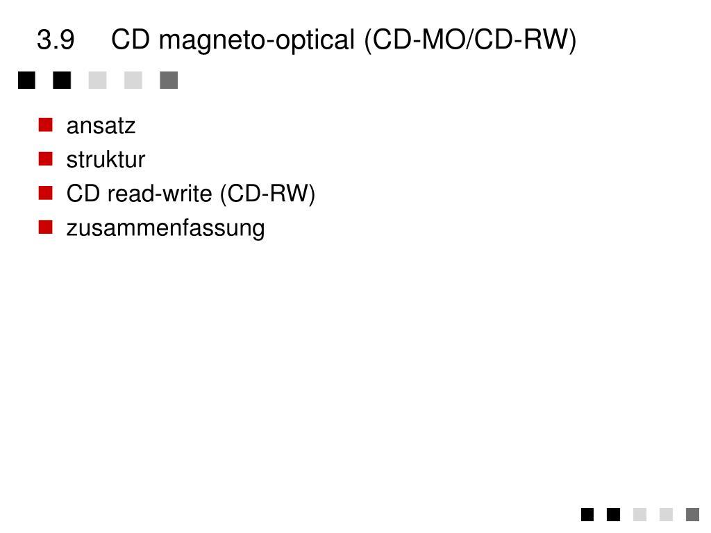 3.9CD magneto-optical (CD-MO/CD-RW)