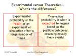 experimental versus theoretical what s the difference
