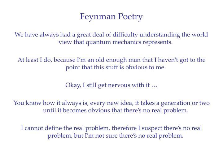 Feynman Poetry