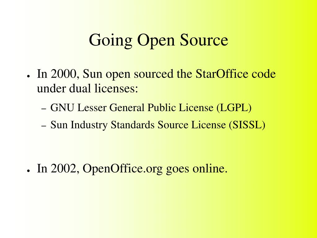 Going Open Source