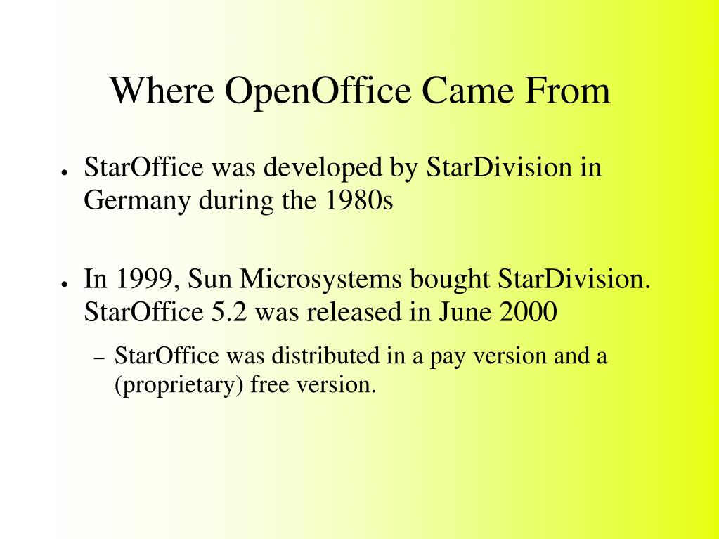 Where OpenOffice Came From