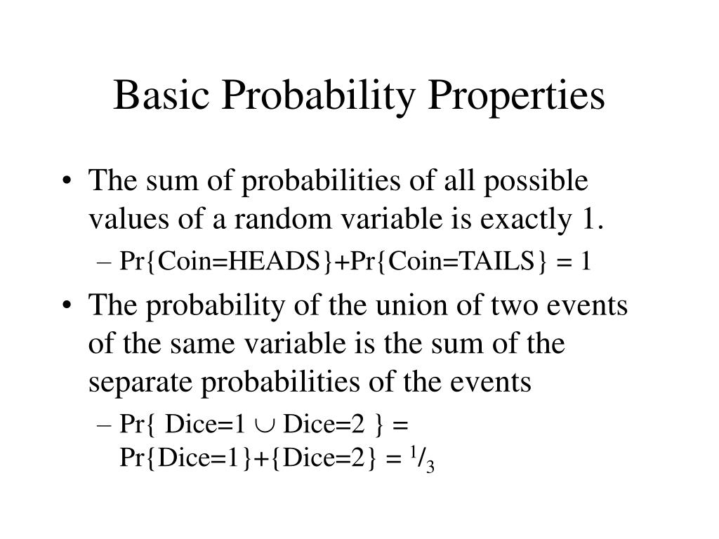 Basic Probability Properties