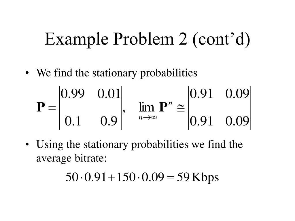 Example Problem 2 (cont'd)