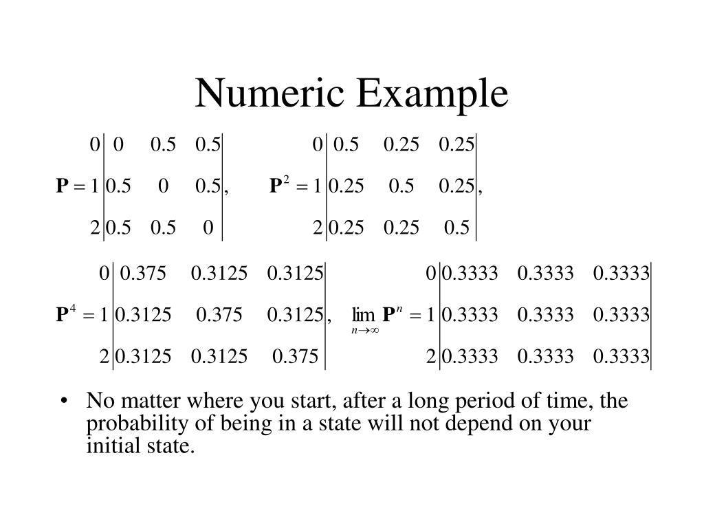 Numeric Example