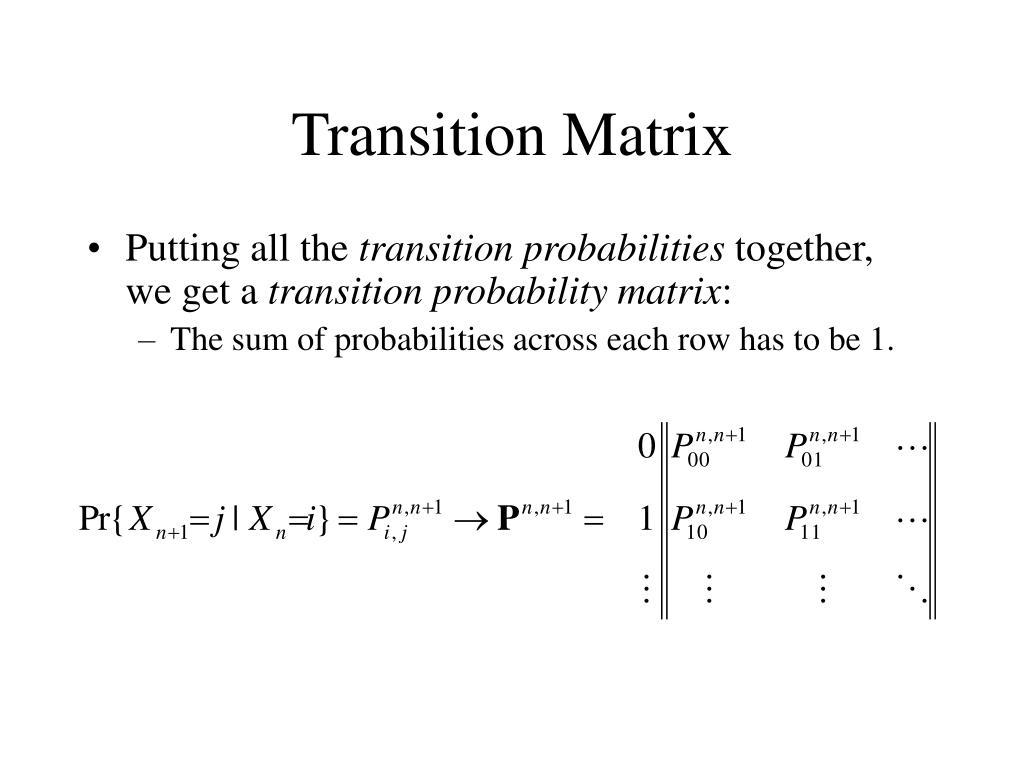Transition Matrix