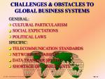 challenges obstacles to global business systems