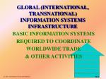 global international transnational information systems infrastructure