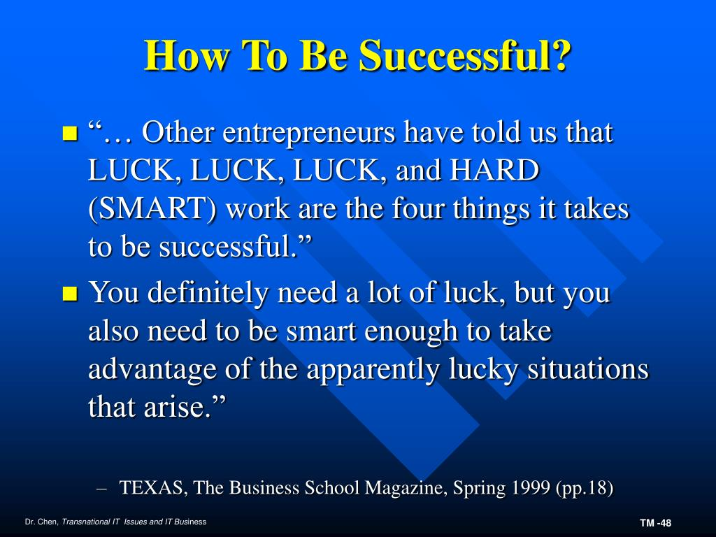 How To Be Successful?
