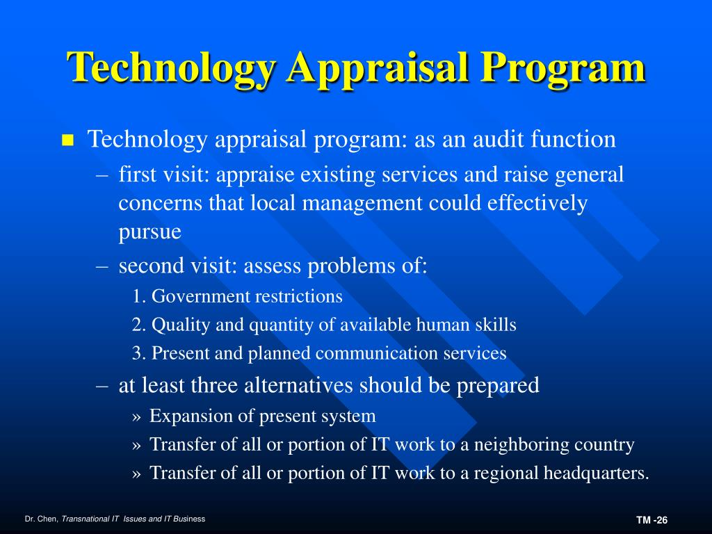 Technology Appraisal Program