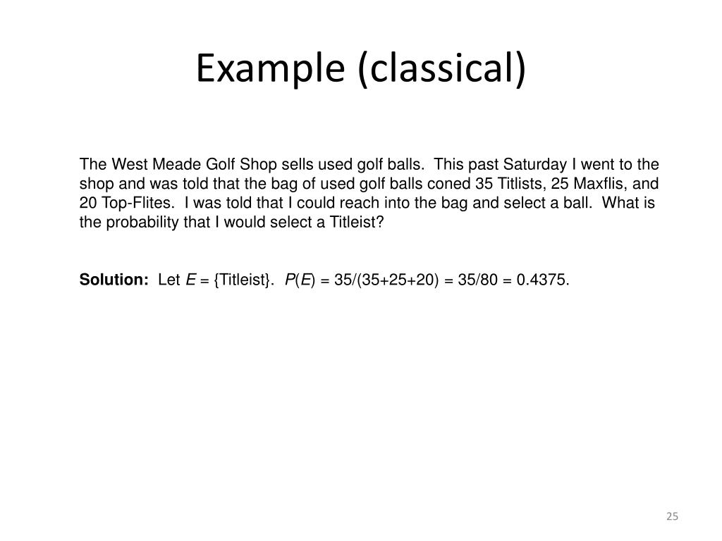 Example (classical)
