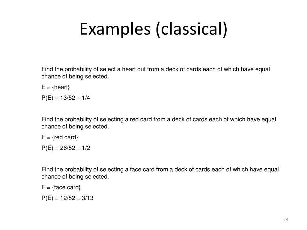 Examples (classical)