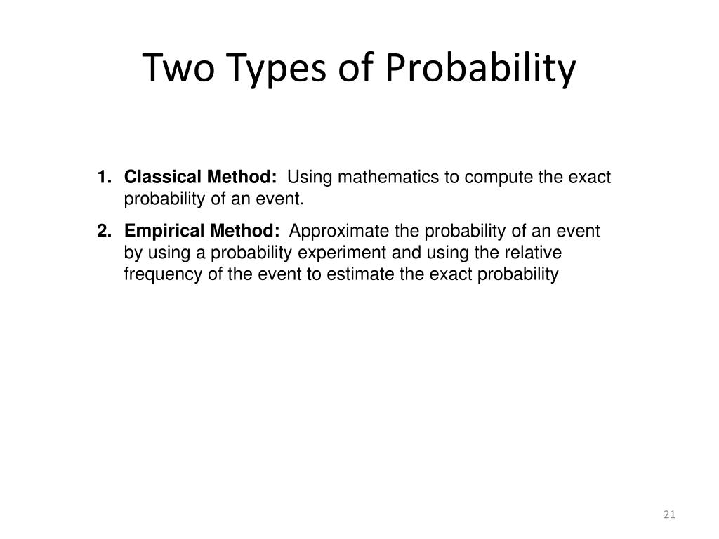 Two Types of Probability