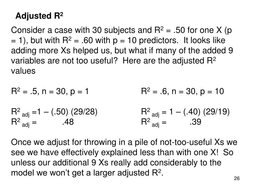 Adjusted R