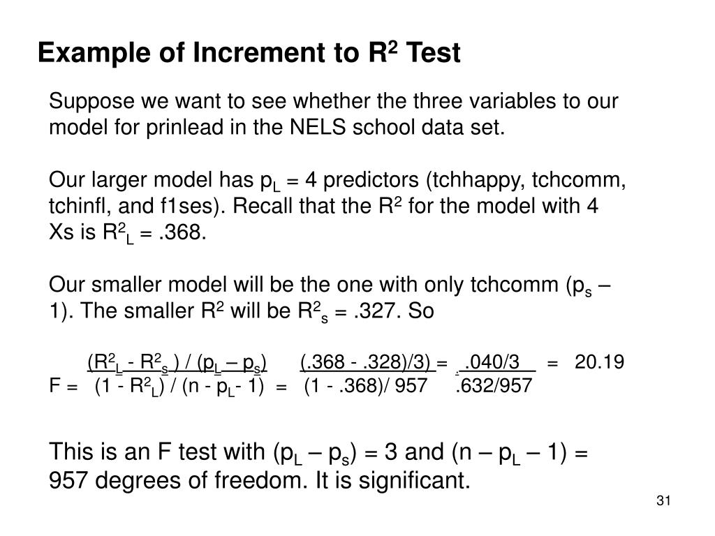 Example of Increment to R