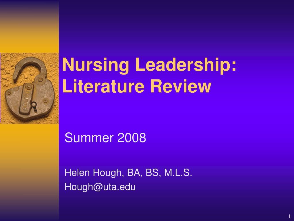 Nursing Leadership: