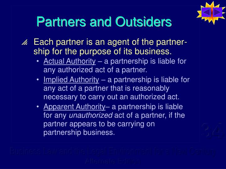 Partners and outsiders
