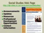 social studies web page http dpi state nc us curriculum socialstudies