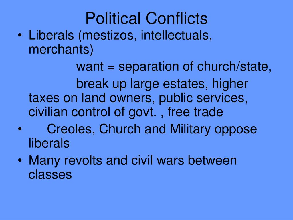 Political Conflicts
