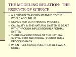 the modeling relation the essence of science