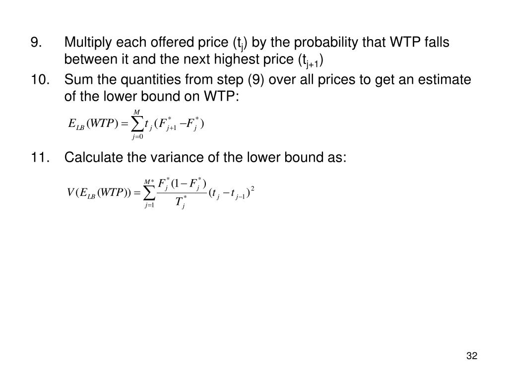 Multiply each offered price (t