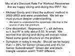 miu et al s discount rate for workout recoveries are we happy slicing and dicing this irr no