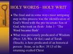 holy words holy writ10