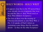 holy words holy writ8