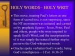 holy words holy writ9