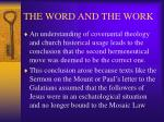 the word and the work13